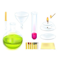Chemistry Icon Set vector image