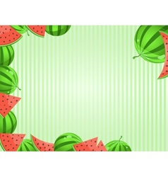 Greeting Card With Watermelon Decoration vector image vector image