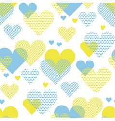 love heart concept for backdrop simple stylized vector image