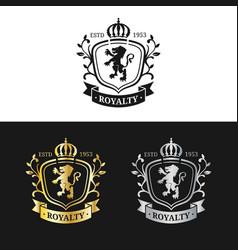 monogram logo template luxury crown design vector image vector image