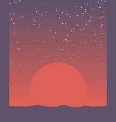 space retro banner vector image vector image