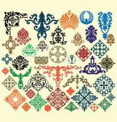 Vintage floral decorative elements vector image vector image
