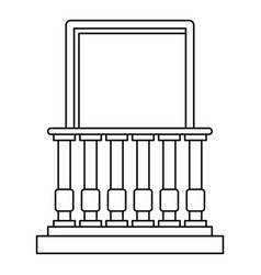 balcony and balustrade icon outline style vector image vector image