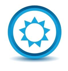 Blue sun icon vector