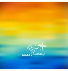 Enjoy Summer colorful blurred background vector image