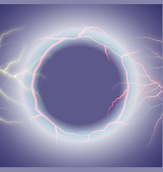 lightning round text frame on transparent vector image