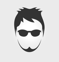 mens hairstyle vector image
