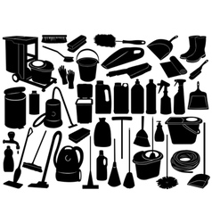 cleaning objects vector image