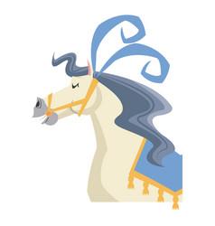 cute horse circus festival fantasy animal vector image
