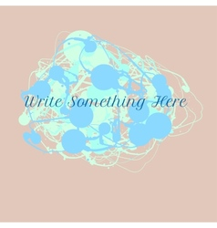 ink splash background with text vector image