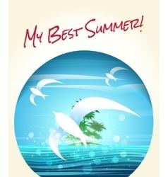 My Best Summer vector image