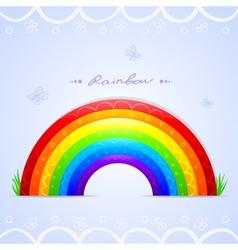 rainbow beautiful vector image vector image