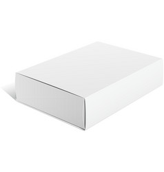 Realistic White Package carton Box For Software vector image vector image