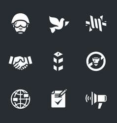 set of peacemaker icons vector image vector image