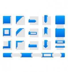 web wrap corners vector image