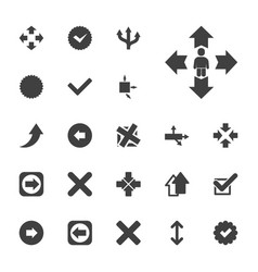 22 right icons vector