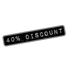 40 percent discount rubber stamp vector