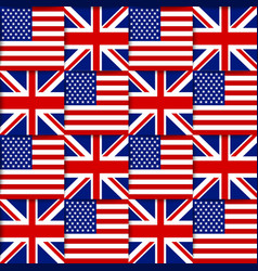 American and British seamless pattern vector