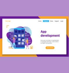 app development lp template vector image