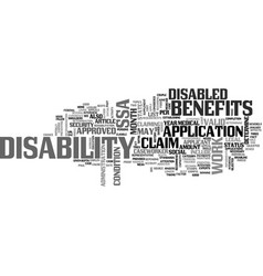 are you entitled to claim disability benefits vector image