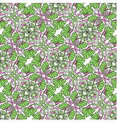 Art nouveau seamless pattern floral motifs vector