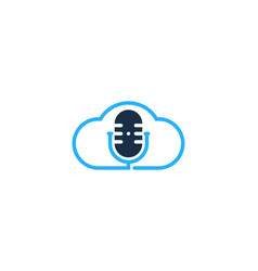 atmosphere podcast logo icon design vector image