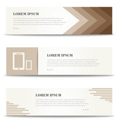 banners for print minimalistic banners set vector image