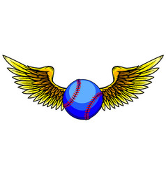baseball ball with wings vector image