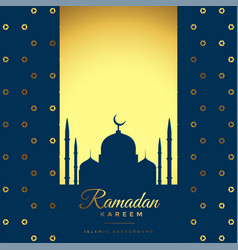 Beautiful golden ramadan kareem background vector