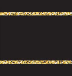 Black background with gold glitter stripes vector