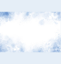 blue textured watercolor frame background vector image