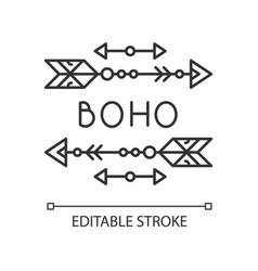 Boho aesthetic arrows pixel perfect linear icon vector