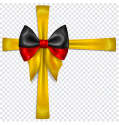 bow in colors germany flag with crosswise vector image