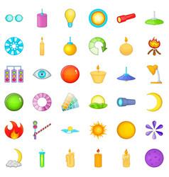 circle icons set cartoon style vector image