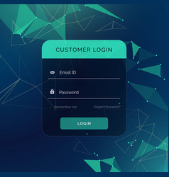 creative login form ui template for your web or vector image