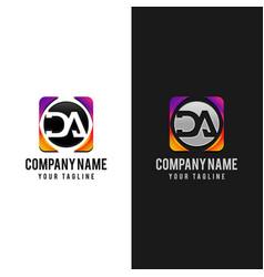Da d a letter logo design template premium vector