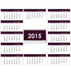 Desk calendar 2015 template vector