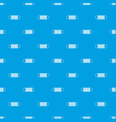 Disposable face mask pattern seamless blue vector