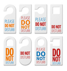 Do not disturb realistic plastic blanks vector