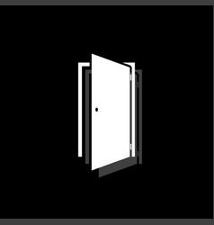 Door icon flat vector