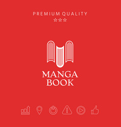 Elegant logo with book symbol - like the letter m vector