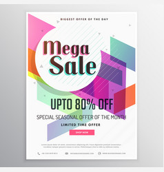 Elegant modern sale discount voucher template vector