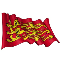 Englands Royal Baner Flag vector image