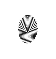 finger print fingerprint lock secure security vector image