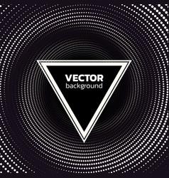 Halftone dotted vortex triangle background vector