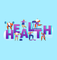 Healthy lifestyle sport banner cardio gym training vector