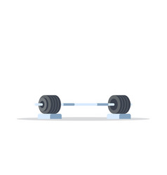 heavy barbell icon vector image