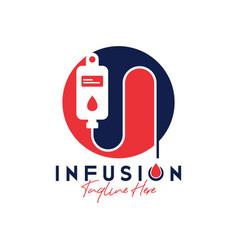 human health infusion inspiration logo vector image