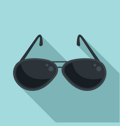 Hunter sunglasses icon flat style vector