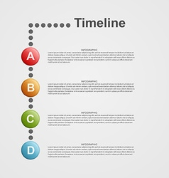 Infographics timeline concept vector image